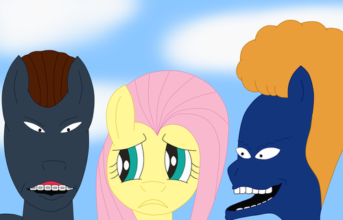 Fluttershy With Beavis And Butthead