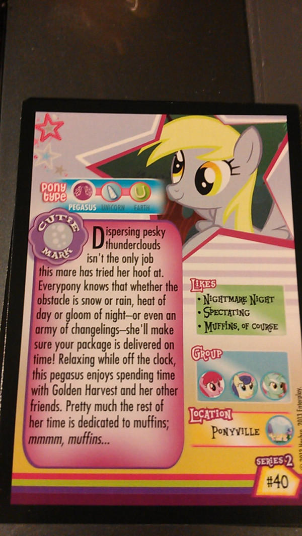 Series 2 Derpy Card (back)