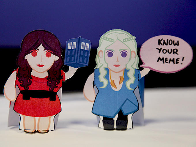 Doctor Who & Game of Thrones Papercraft