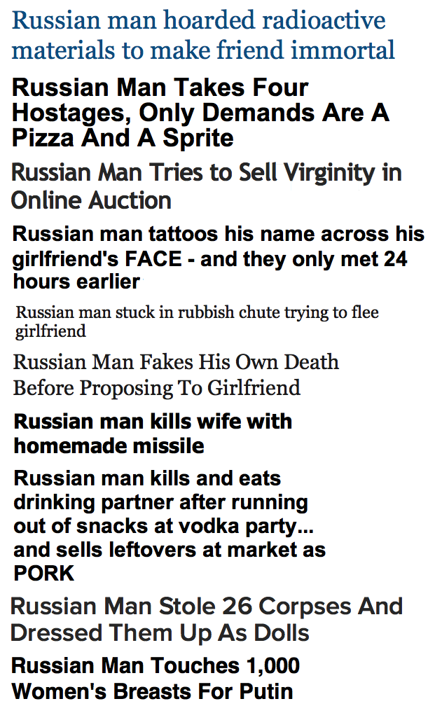 Make way for Russian Man