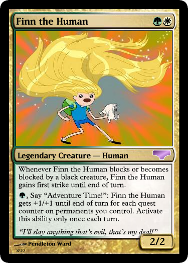 f8a finn magic the gathering card fake ccg cards know your meme
