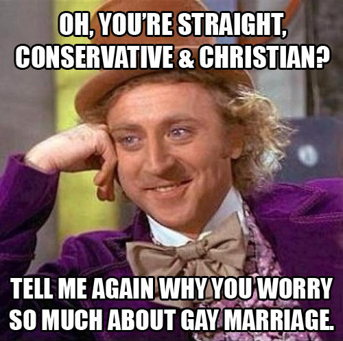 d15 oh, you're straight, conservative & christian? tell me again why you