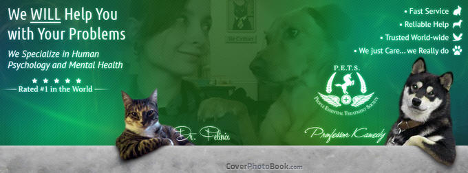 Professional Cat Dog Help PETS Facebook Timeline Photo Cover