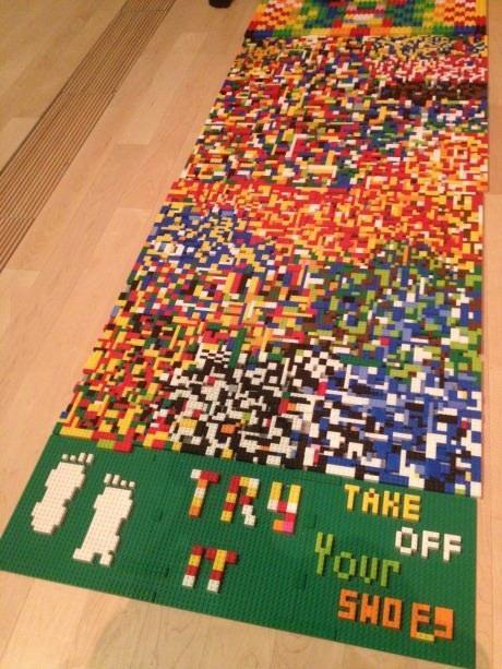 Lego Shoe Rug