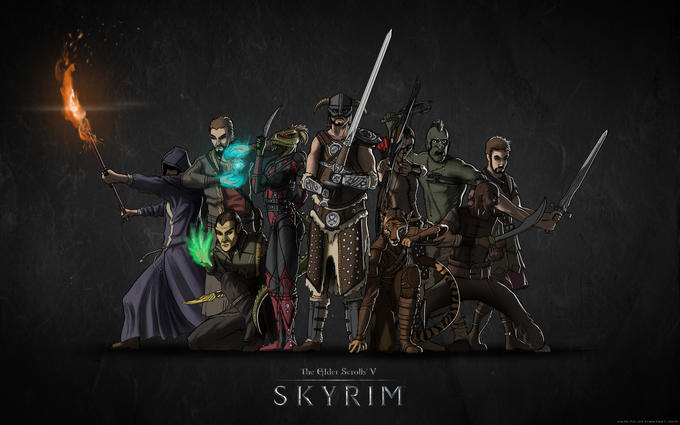 Skyrim TF2 poster