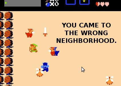 Link is in the Wrong Neighborhood