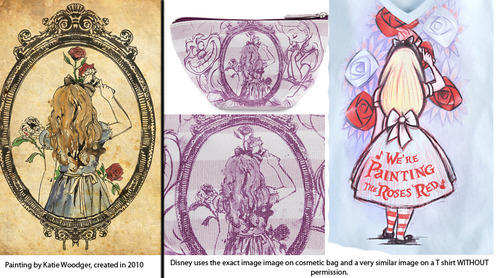 "Disney Accused of Stealing ""Alice in Wonderland"" Artwork from a College Student"