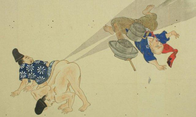 Japanese Scroll Art of Farting