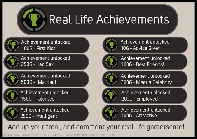 Real Life Achievements