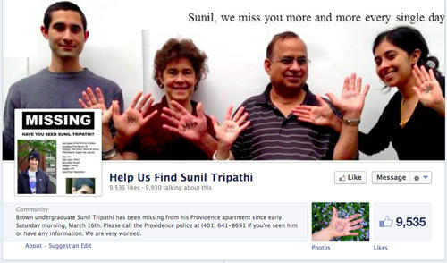 Help Us Find Sunil Tripathi