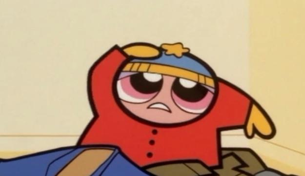 Blossum Dressed as Eric Cartman