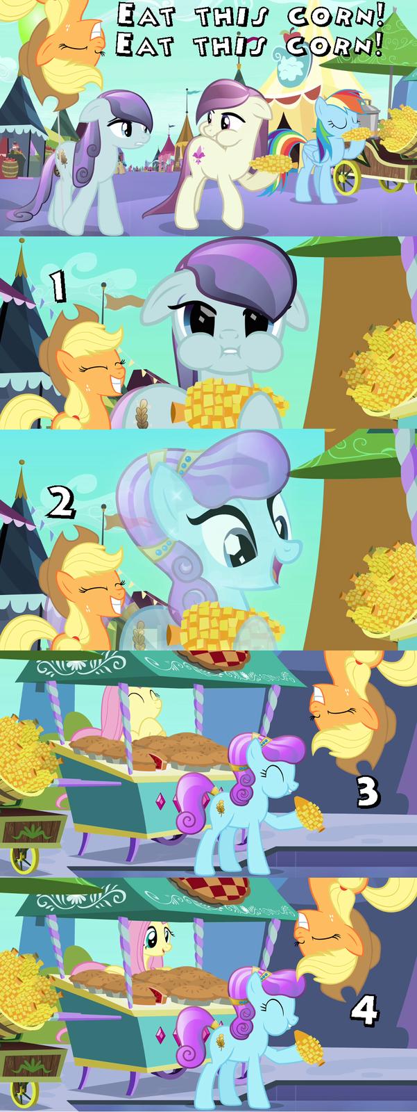 Eat this corn! Eat this corn! 1 2 3 4