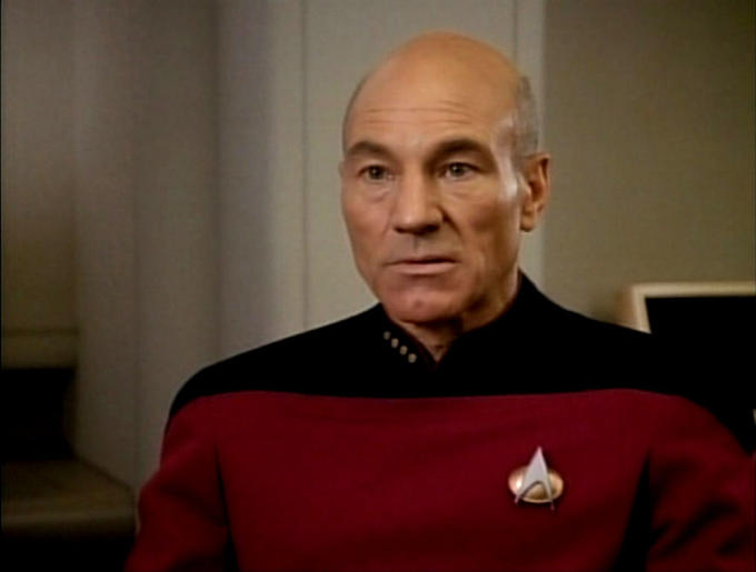 Jean-Luc Picard's poker face