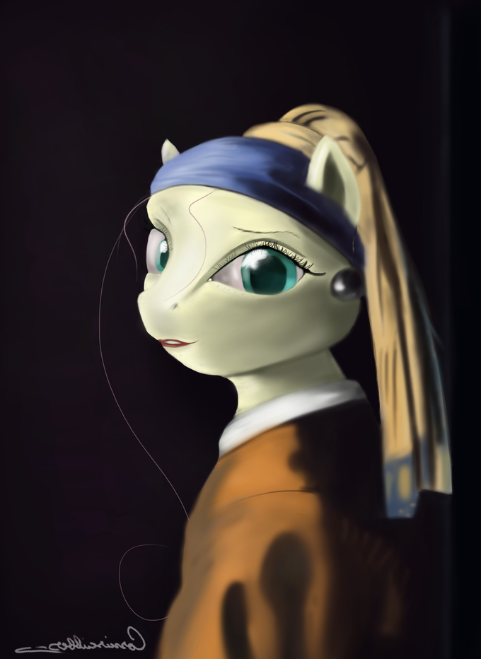Fluttershy with a Earing