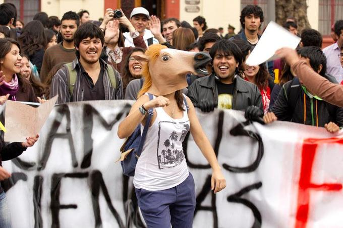 Horse Head Mask in Chile (