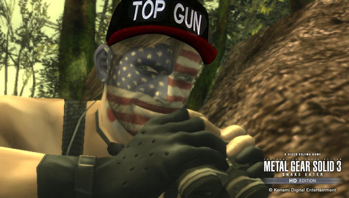 Big Boss w/ Top Gun Hat