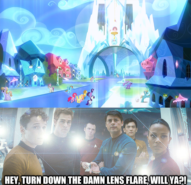 Hey, turn down the damn lens flare, will ya?!