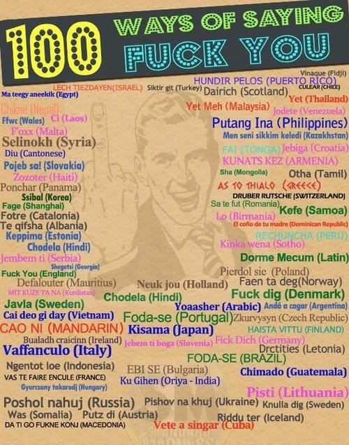 100 Ways To Say Fuck You