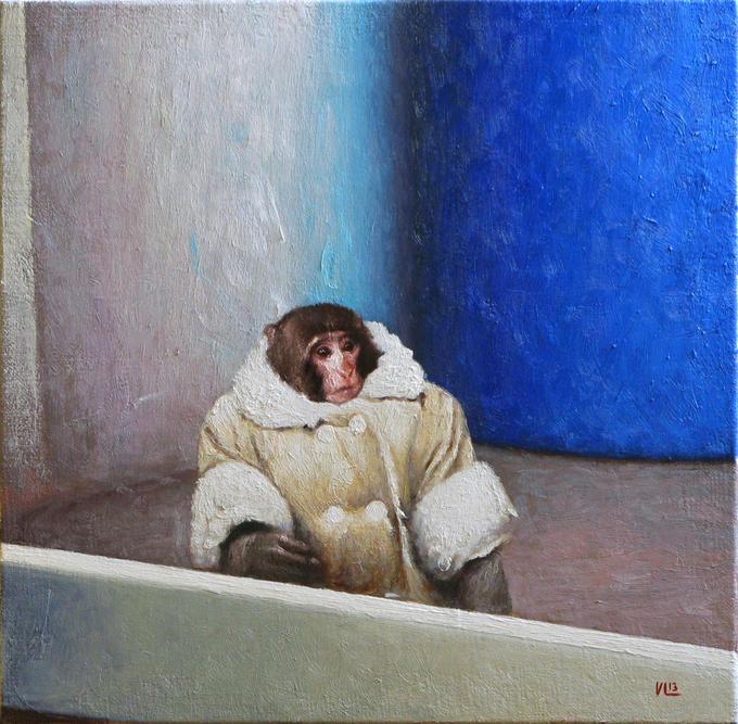 IKEA Monkey 2013, 35cm x 35cm, oil on canvas