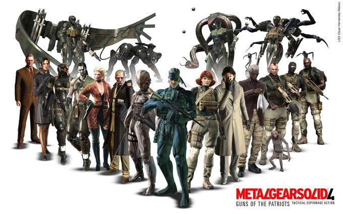 Metal Gear Solid 4 cast