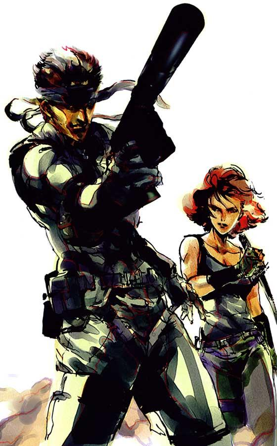Solid Snake and Meryl