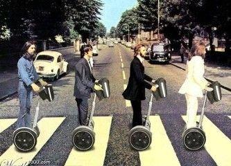 Abbey Road on Segway