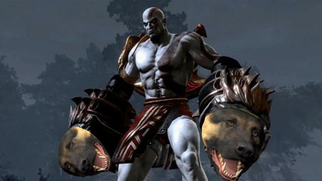 Kratos With Xbox Dog Fists