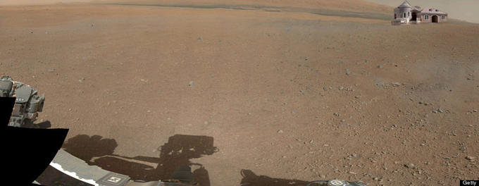Curiosity's First Color Picture of Mars