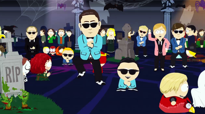 South Park's take on Psy