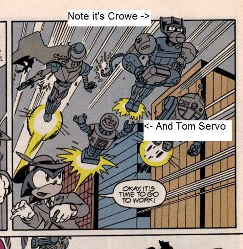 Crow & Tom in Sonic comic