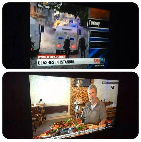 CNN Turkey ran cooking shows while CNN International covered the protests