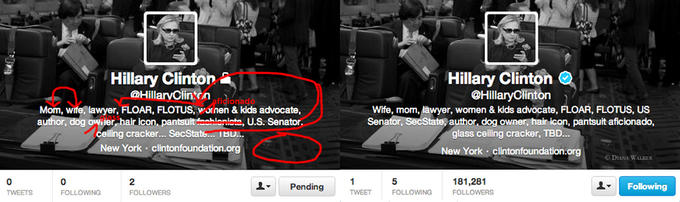 6 Changes Hillary Clinton Made To Her Twitter Bio