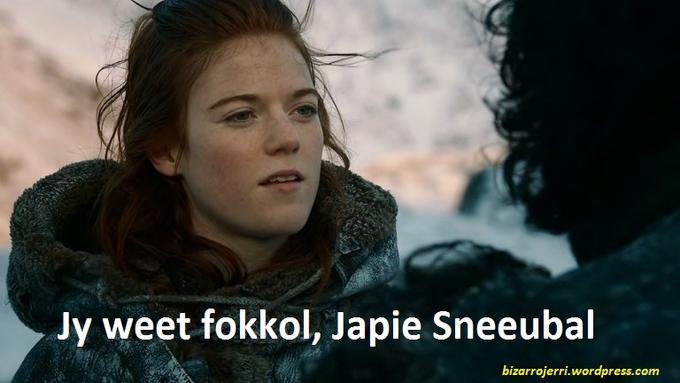 Jy weet fokkol...South Africa's Game Of Thrones