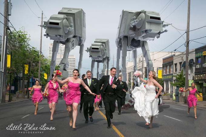 World's Greatest Wedding Photo NOW WITH STAR WARS
