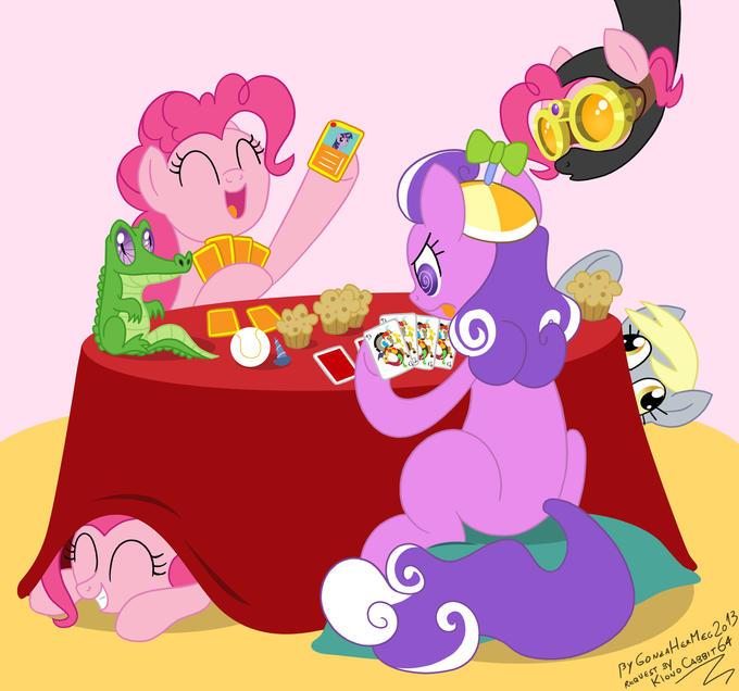 Pinkie and Screwball poker game