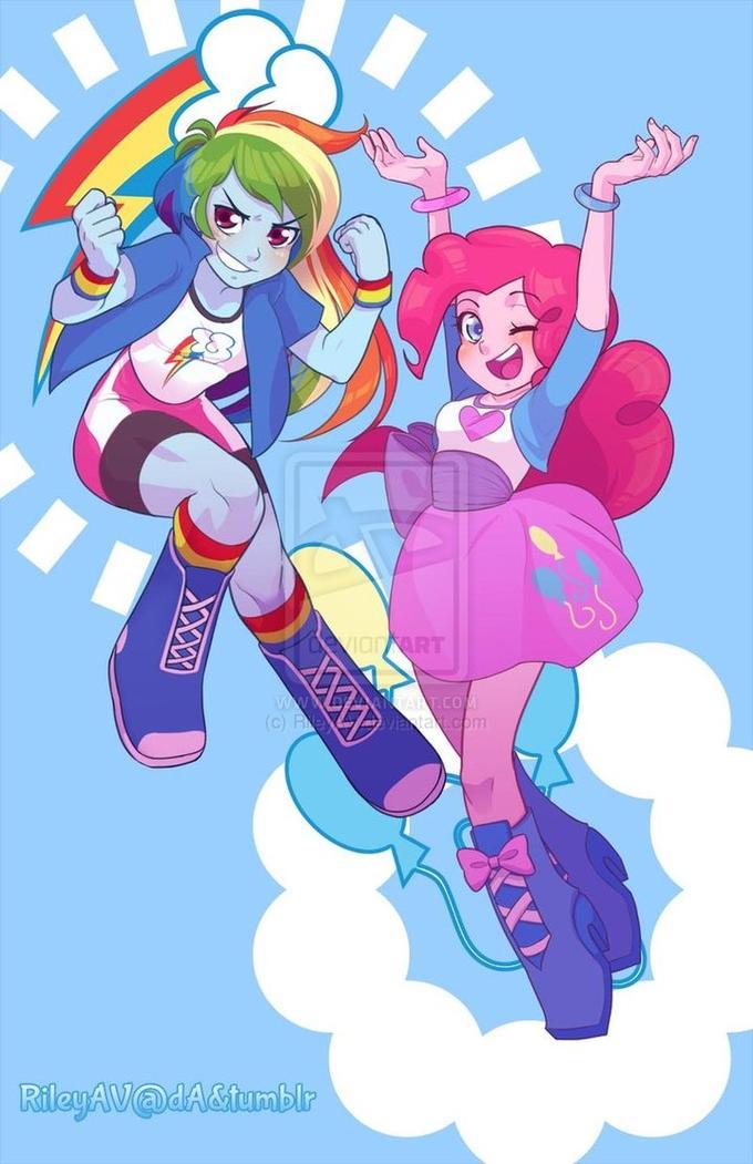 Rainbow and Pinkie