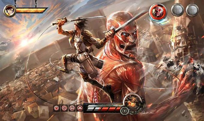 attack on titan video game concept art (fake)