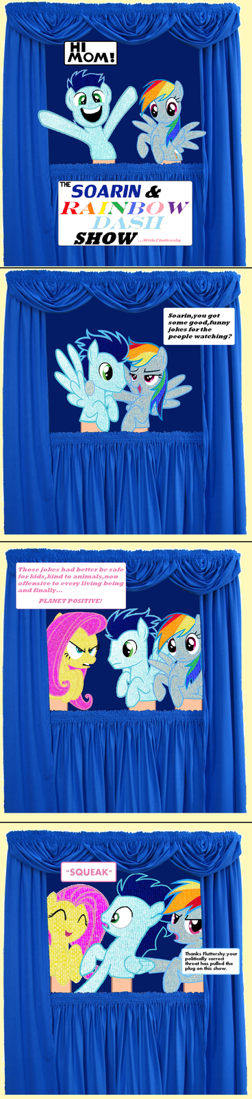 The Soarin Dash Puppet Show with Fluttershy