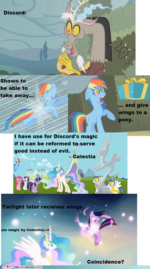 Discord gave twilight wings!