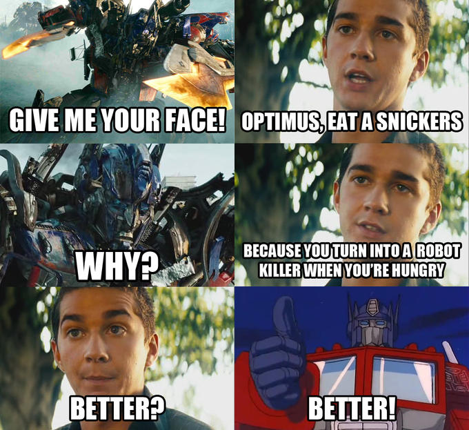 Optimus Prime Snickers