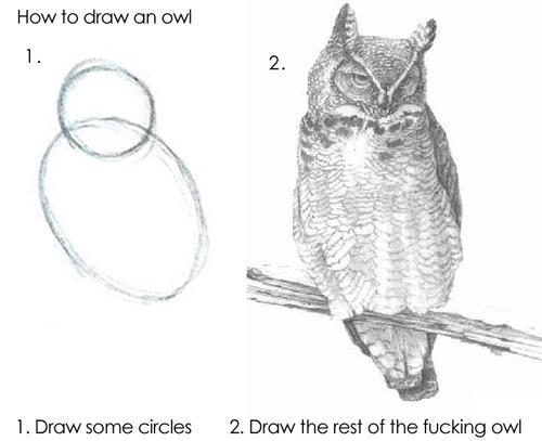 How to draw an owl know your meme for Draw the owl