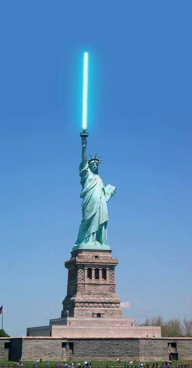 Liberty With Lightsaber