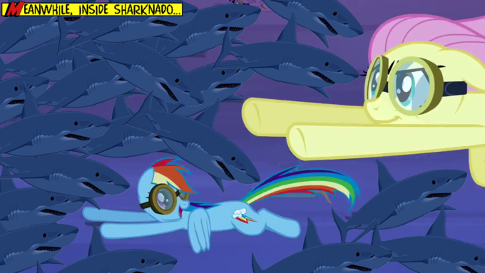 Meanwhile, inside Sharknado