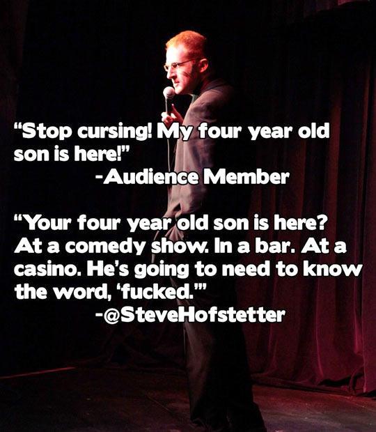 Steve Hofstetter Owns Heckler Mom