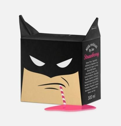 Batman Milk Carton Design by Alexey Hattomonkey