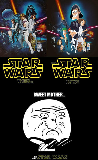 stars wars then and star wars now