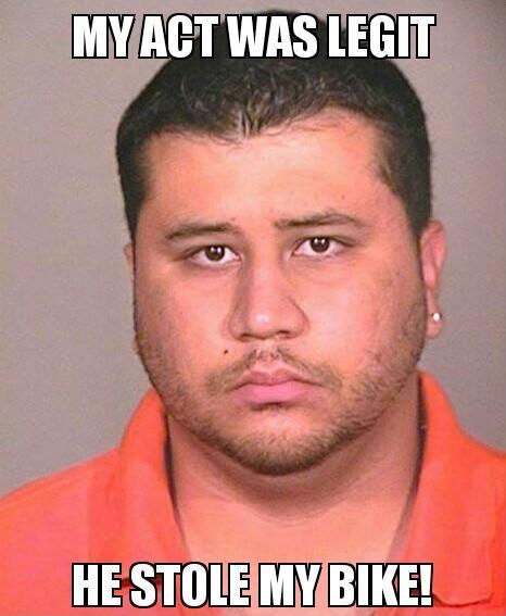 Trayvon Martin stole Zimmerman's bike?