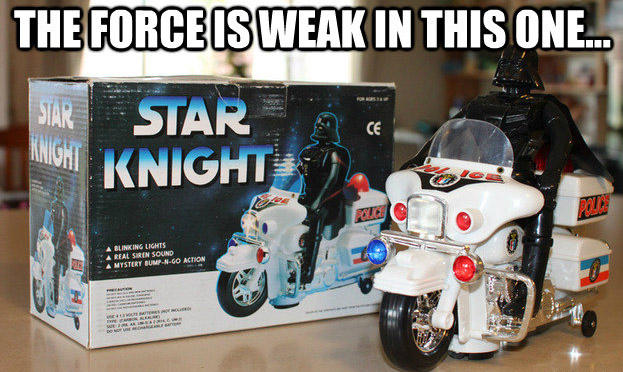 The Force is weak in this one...