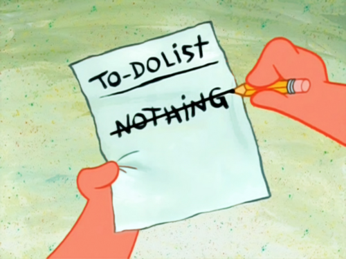 009 to do list nothing spongebob squarepants know your meme