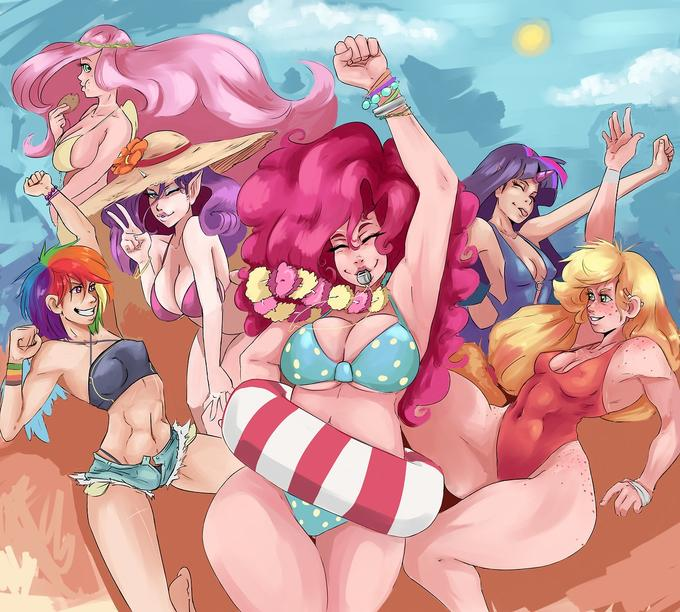 Summer Fun Humanized Ponies